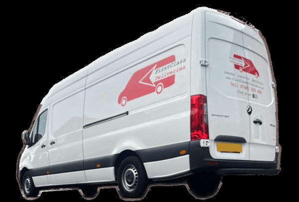 First Class Deliveries Van